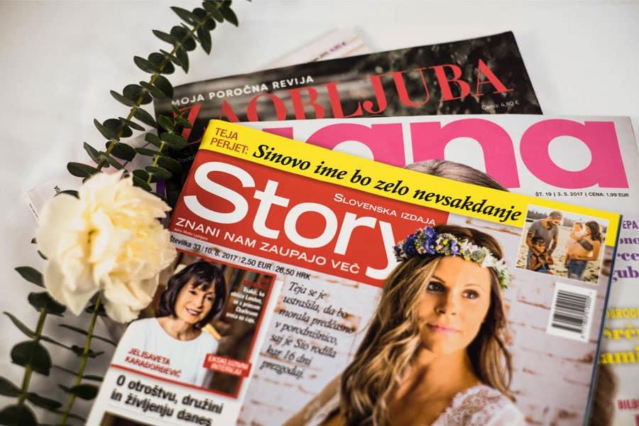 Revije s članki sanjskega šopka