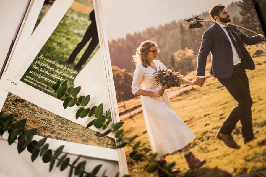 Sanjski šopek v poročni reviji